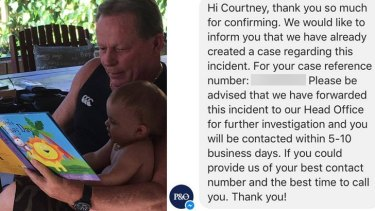 Mark O'Keefe was removed from a P&O ship, much to his daughter Courtney's annoyance.