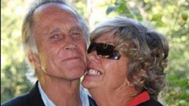 Allan Byrne with his wife, Jayne Byrne.