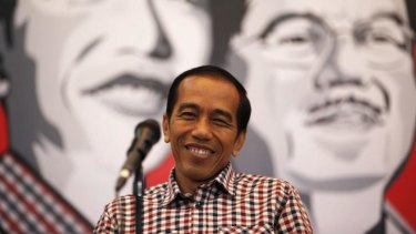Confident: Indonesia's presidential frontrunner, Joko Widodo.
