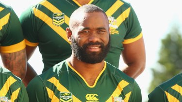 Green and gold: Semi Radradra made his debut for the Kangaroos this year.