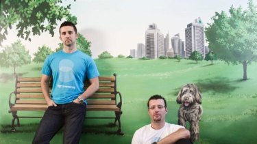 Bigcommerce founders, Mitchell Harper (left) and Eddie Machaalani.