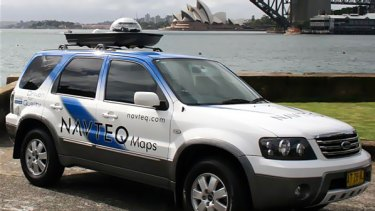 The Navteq Maps car: mapping Australia road by road.