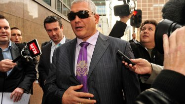 Mick Gatto after an earlier court appearance.