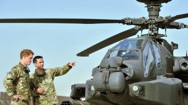 Prince Harry at Camp Bastion, Afghanistan, in September 2012.