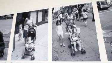 Images in Catherine Bell's photographic installation <i>Mum's the Word</i>, which is described as an anti-celebration of motherhood.