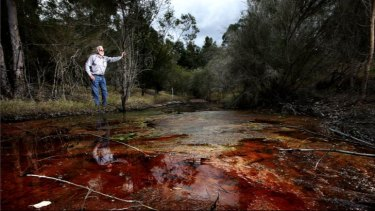 'There is absolutely nothing that survives in the creek, it's highly toxic,' says Col Maybury.