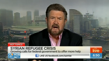 'Angela Merkel deserves the Peace Prize for the fact Germany has stepped up to the plate, which our country has not': Derryn Hinch on Sunrise.