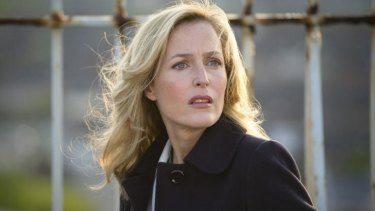 "On edge: Gillian Anderson stars as a detective with as many psychological issues as her quarry in ""The Fall""."