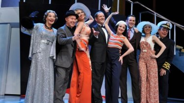 Todd McKenney and Caroline O'Connor (centre) in the Helpmann-nominated Opera Australia/John Frost production of the musical, Anything Goes.