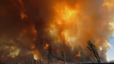Bushfires rage out of control from the Bunyip State Park.