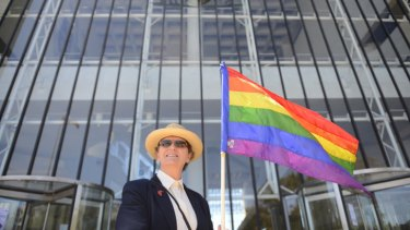 Dr Susan Nicholls ... at the High Court for the Commonwealth's challenge against the ACT's same-sex marriage laws.