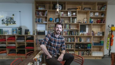 Lachlann Carter founder of 100 Story Building, a youth literary centre in Footscray is a social enterprise.
