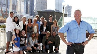 Way back when ... Scott Cam and the eight couples who competed in the first week of <i>The Block</i>.
