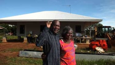 Raising the roof ...  John Baptist Kelantumama and his wife, Consolata, plan to buy this three-bedroom, two-bathroom house in Nguiu.