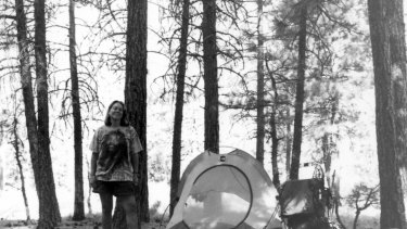 Strayed during her Pacific Crest Trail journey.