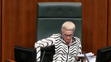 Speaker Bronwyn Bishop during question time on Wednesday.