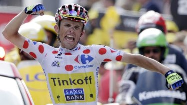 King of the mountains leader and stage winner Rafal Majka.