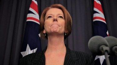 Hitting out ... Prime Minister Julia Gillard.