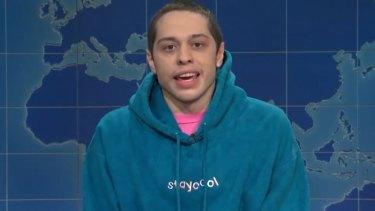 Pete Davidson took a hilarious swipe at Chrissy Teigen on Saturday Night Live's Weekend Update segment.