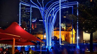 The Helix Tree by Bruce Ramus as part of the Light in Winter festival.