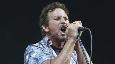 Full flight: Eddie Vedder performing at the Big Day Out.