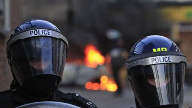 """""""We hate you"""" ... the Met have been challenged by the riots."""