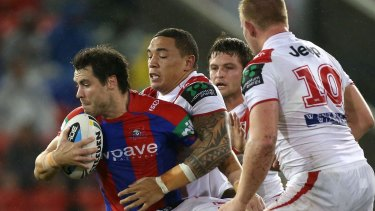Groundbreaking claim: James McManus in action for Newcastle in 2015.