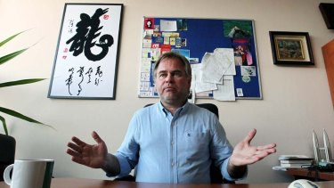 Russian internet security tsar Eugene Kaspersky at his company's offices in Moscow.