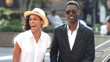 Things we like in <i>Top Five</i>: Rosario Dawson and Chris Rock.
