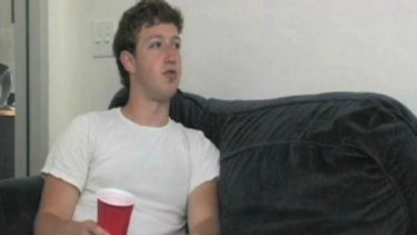 Early days ... Mark Zuckerberg in 2005.