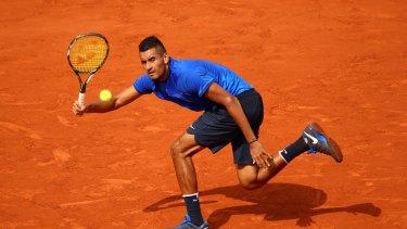 Nick Kyrgios at Roland Garros.