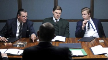 Lachy Hulme, Alexander England and Luke Ford in Power Games