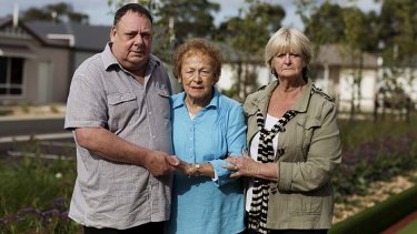 A family affair: Rob and June Elbourne with Rob's mother Flo.