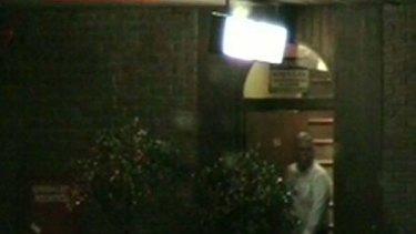 A Seven camera catches David Campbell leaving a gay sex club.