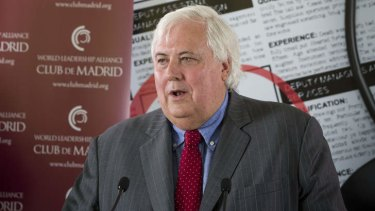Expansion can be a minefield: Clive Palmer.