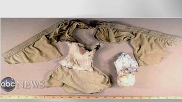 An FBI photo of Abdulmutallab's underwear and the alleged explosives
