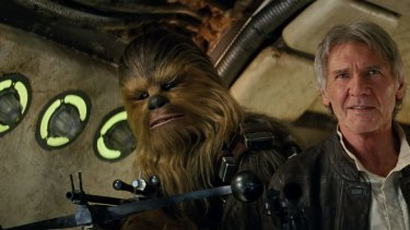 """""""Chewy, we're home,"""" says Han Solo in <i>Star Wars: The Force Awakens</i>."""