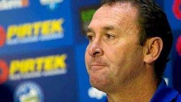 Eels coach Ricky Stuart.