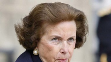 Liliane Bettencourt ... one of the wealthy people to have signed the petition.