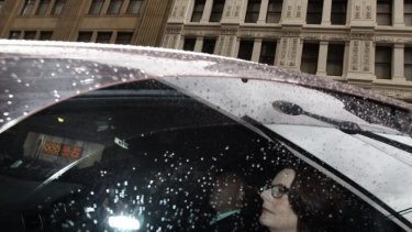 'I am, of course, a former prime minister': Julia Gillard arrives at the royal commission.