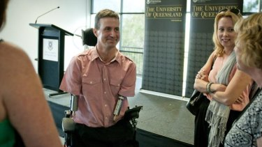 Matthew Ames was discussing resilience at the University of Queensland on Thursday night.
