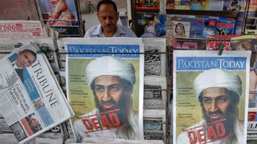 Death in Islamabad ... Newspapers with headlines about the death of Osama bin Laden, after the al-Qaeda leader was killed in May.