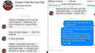 Ms Dakota was left shocked by the response she received from the Bibra Lake gym.