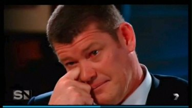 James Packer on Channel Seven's Sunday Night.