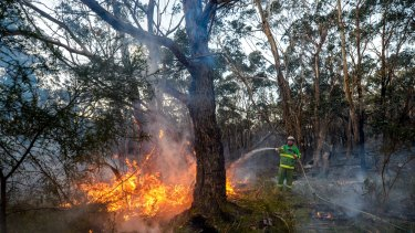 A bushfire that started as a controlled burn destroyed four houses in Lancefield in early October