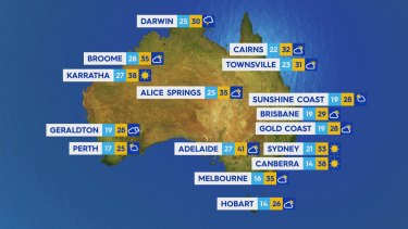 Sunday January 24: Heatwave conditions forecast across the south east with temperatures expected to reach above 40 degrees in South Australia.