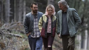 Ewen Leslie, Odessa Young and Sam Neill star in <i> The Daughter</i>.