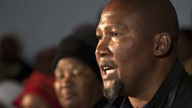 Mandla Mandela, grandson of former South African President Nelson Mandela, says his own son is the result of infidelity between his brother and his ex-wife.