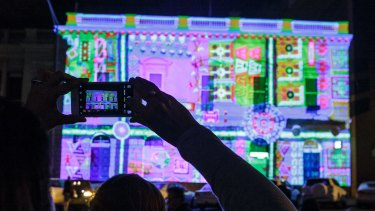 Ballarat's historic buildings were the perfect canvas for projections during White Night.
