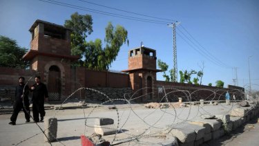 The Peshawar central jail where Pakistani surgeon Shakeel Afridi was moved after the guilty verdict by tribal justice system of Khyber district.